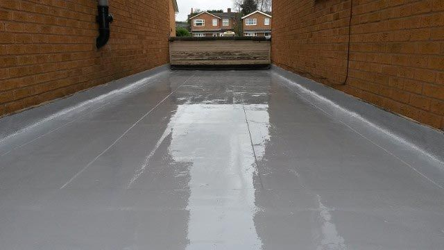 A large rubber roof that has been installed by our staff