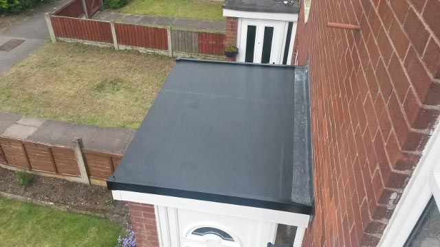 A small flat roof that has been installed by our team