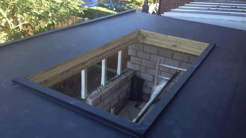 A skylight that has been installed by our team