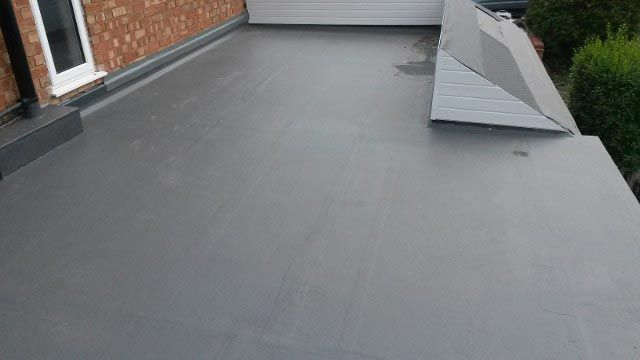 rubber roofing work that has been installed by our team