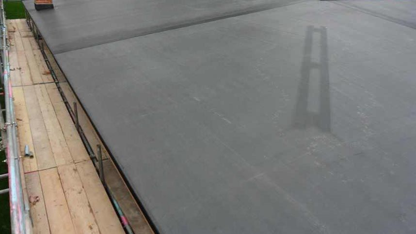 A flat roof that has been installed by our skilled professionals