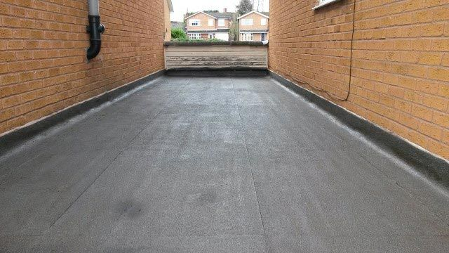 A large rubber roof that has been installed by our team